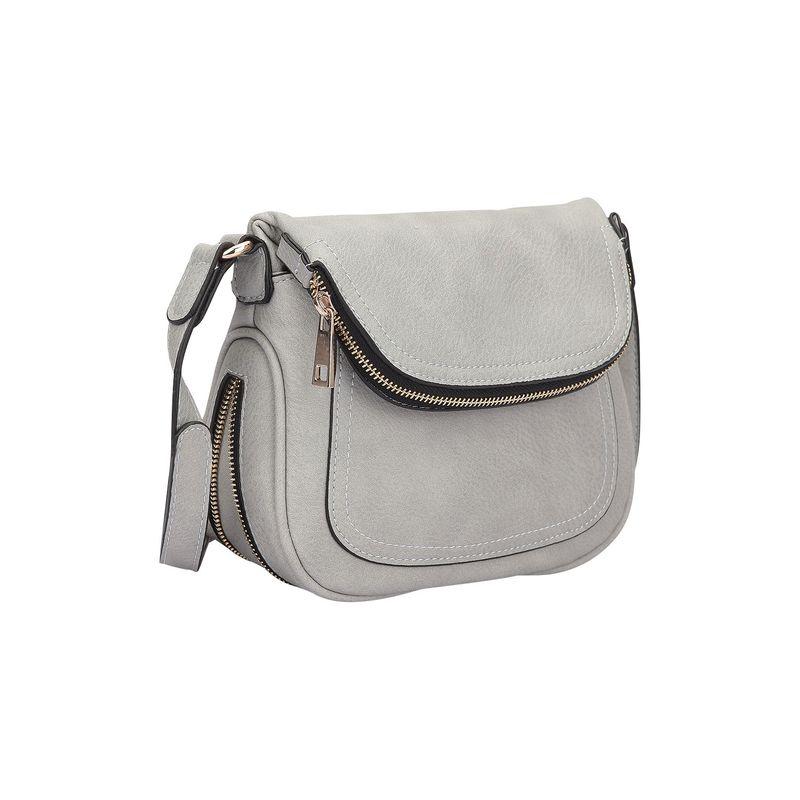 ダセイン メンズ ボディバッグ・ウエストポーチ バッグ Front Flap Crossbody Bag Grey