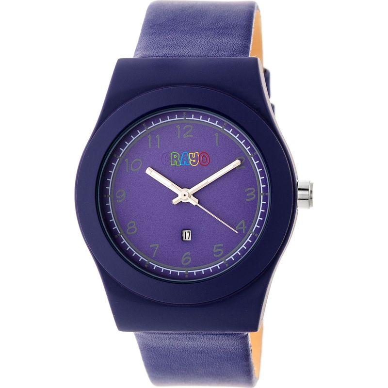 クラヨ メンズ 腕時計 アクセサリー Dazzle Leather-Band Watch Purple