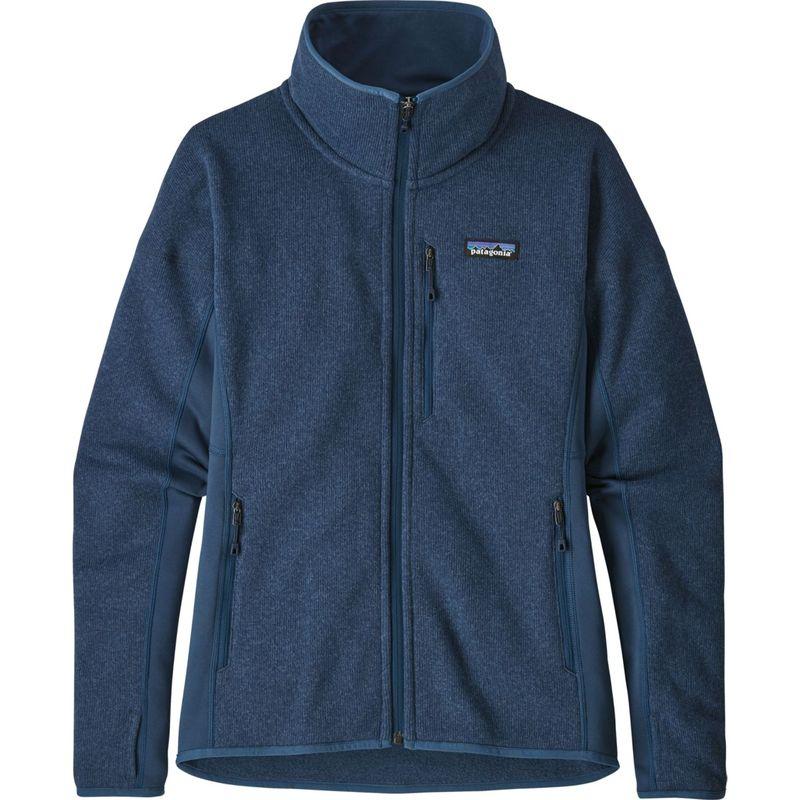 パタゴニア レディース ニット・セーター アウター Womens Performance Better Sweater Jacket S - Stone Blue - Discontinued