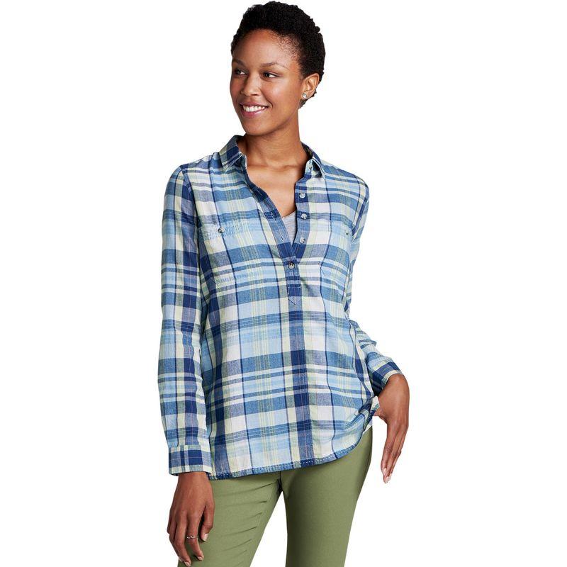 トードアンドコー レディース シャツ トップス Womens Indigo Ridge Long Sleeve Shirt XS - Light Indigo
