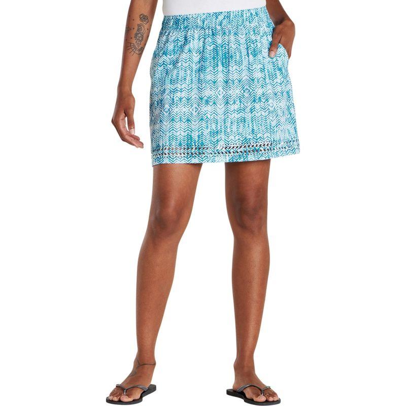 トードアンドコー レディース スカート ボトムス Womens Sunkissed Skort S - Deepwater Herringbone Print
