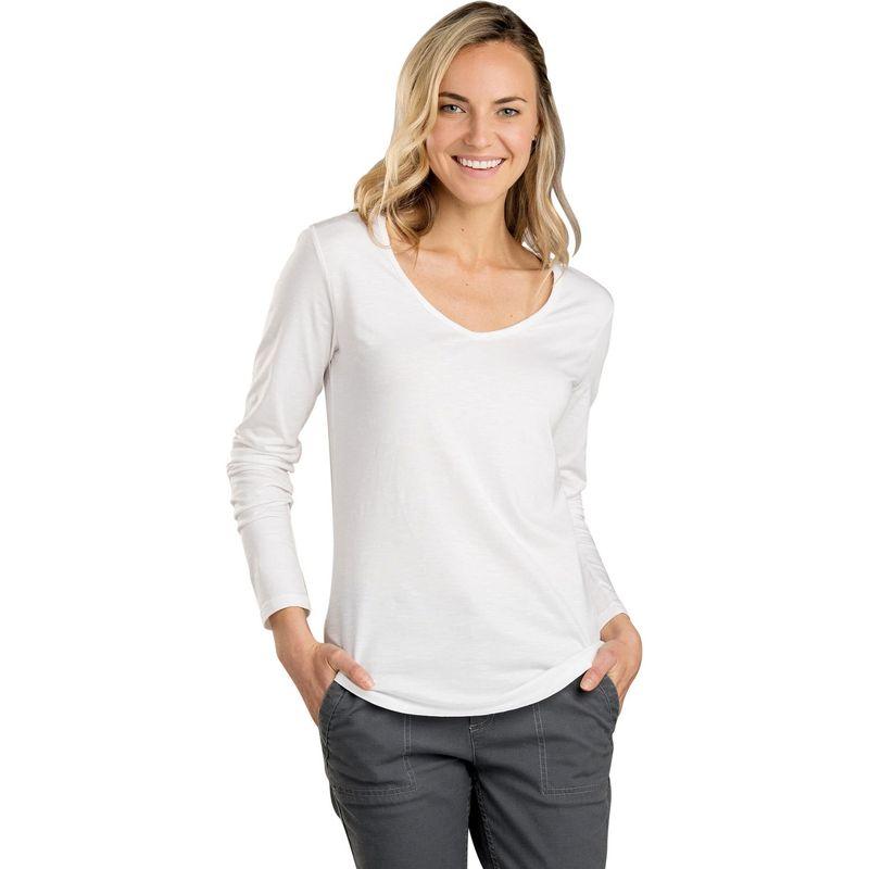 トードアンドコー レディース シャツ トップス Womens Marley Long Sleeve Tee XS - White
