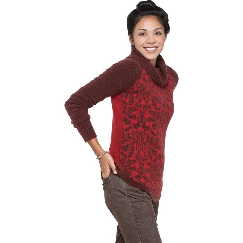 トードアンドコー レディース ニット・セーター アウター Lucianna T-Neck Sweater S - Mahogany