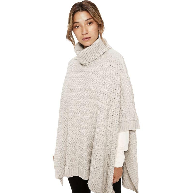 ロル レディース ニット・セーター アウター Knitwear Poncho One Size - Light Grey