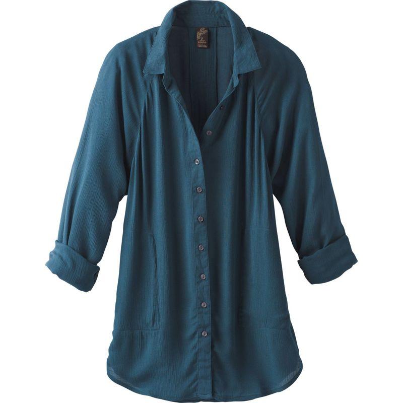 プラーナ レディース シャツ トップス Hele Mai Shirt XS - Petrol Blue