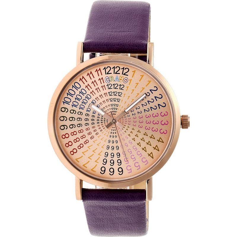 クラヨ メンズ 腕時計 アクセサリー Womens Fortune Leatherette-Band Watch Plum