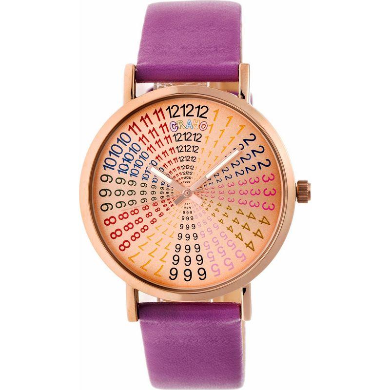 クラヨ メンズ 腕時計 アクセサリー Womens Fortune Leatherette-Band Watch Purple