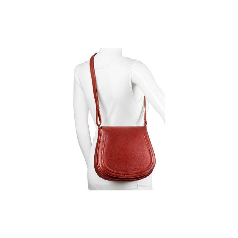 デレクアレクサンダー メンズ ボディバッグ・ウエストポーチ バッグ Medium Full Flap Saddle Bag Whisky