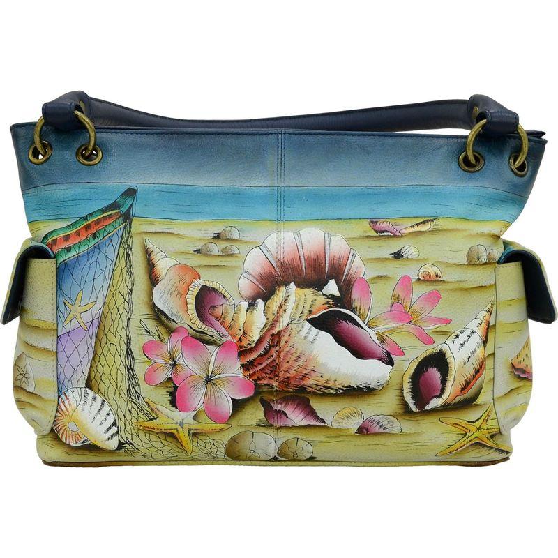 アンナバイアナシュカ メンズ ショルダーバッグ バッグ Hand Painted Leather East West Shoulder Bag Caribbean Dream