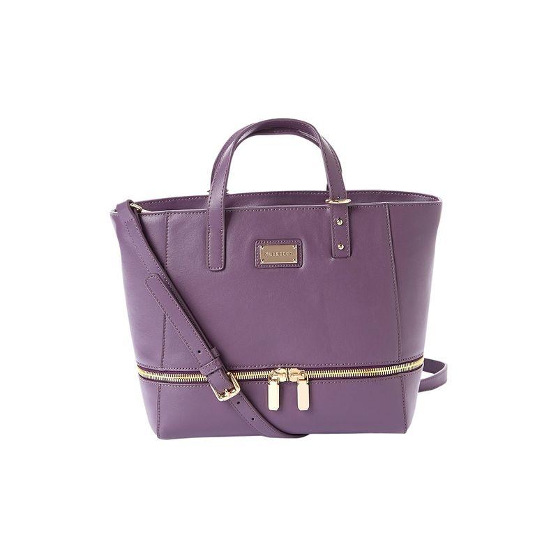 ディオフィ メンズ トートバッグ バッグ Mllecoco Double Front Metal Zipper Tote Purple