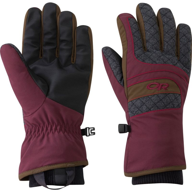 アウトドアリサーチ レディース 手袋 アクセサリー Women's Riot Glove S - Zin/Carob/Tomato
