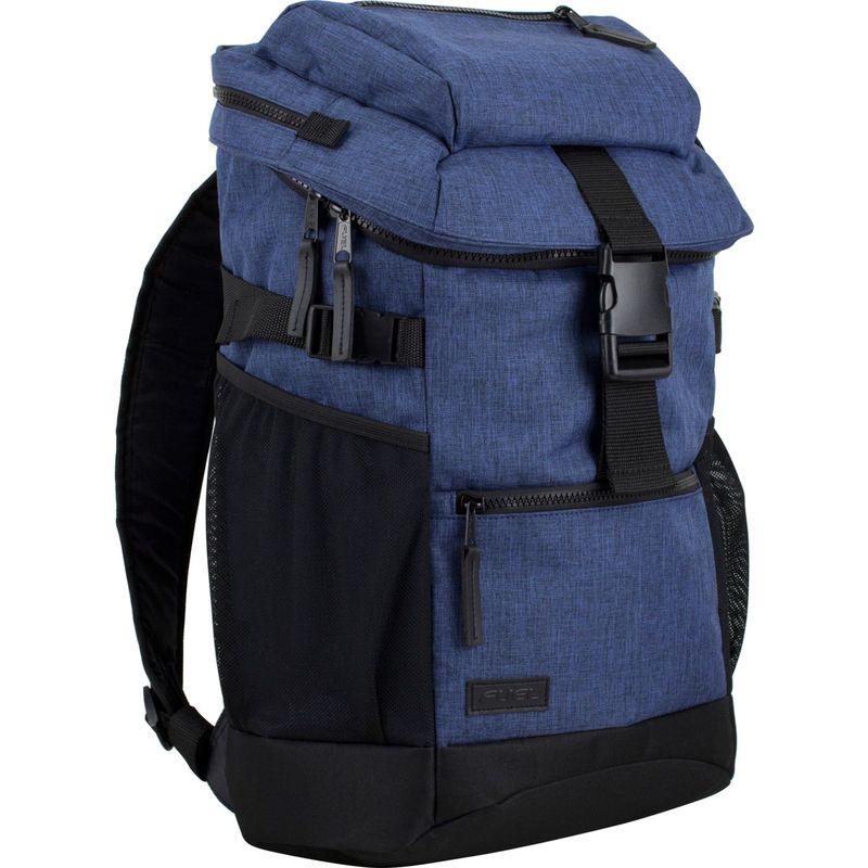 フュエル メンズ バックパック・リュックサック バッグ Retreat Laptop Backpack with Top Loading Insulated Cooler Pocket Blue Chambray