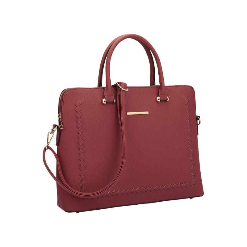ダセイン メンズ ハンドバッグ バッグ Womens Stitching Design Briefcase Satchel Burgundy