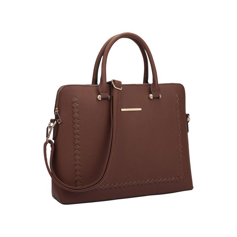ダセイン メンズ ハンドバッグ バッグ Womens Stitching Design Briefcase Satchel Coffee