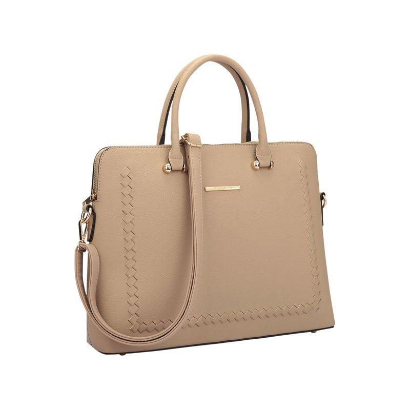 ダセイン メンズ ハンドバッグ バッグ Womens Stitching Design Briefcase Satchel Dark Beige