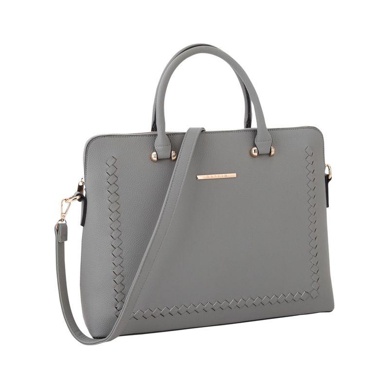 ダセイン メンズ ハンドバッグ バッグ Womens Stitching Design Briefcase Satchel Dark Grey