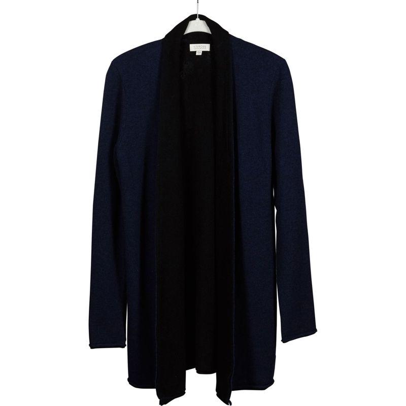 キンロスカシミア レディース ニット・セーター アウター Reversible Cardigan S - Inkwell/Black