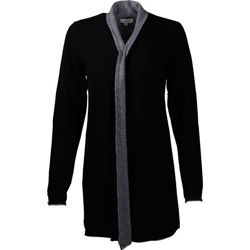キンロスカシミア レディース ニット・セーター アウター Reversible Cardigan XS - Black/Pewter