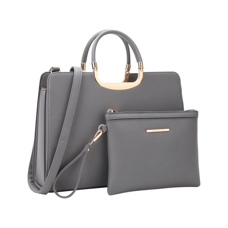 ダセイン メンズ ハンドバッグ バッグ Fashion Briefcase Satchel with Matching Accessory Pouch Grey