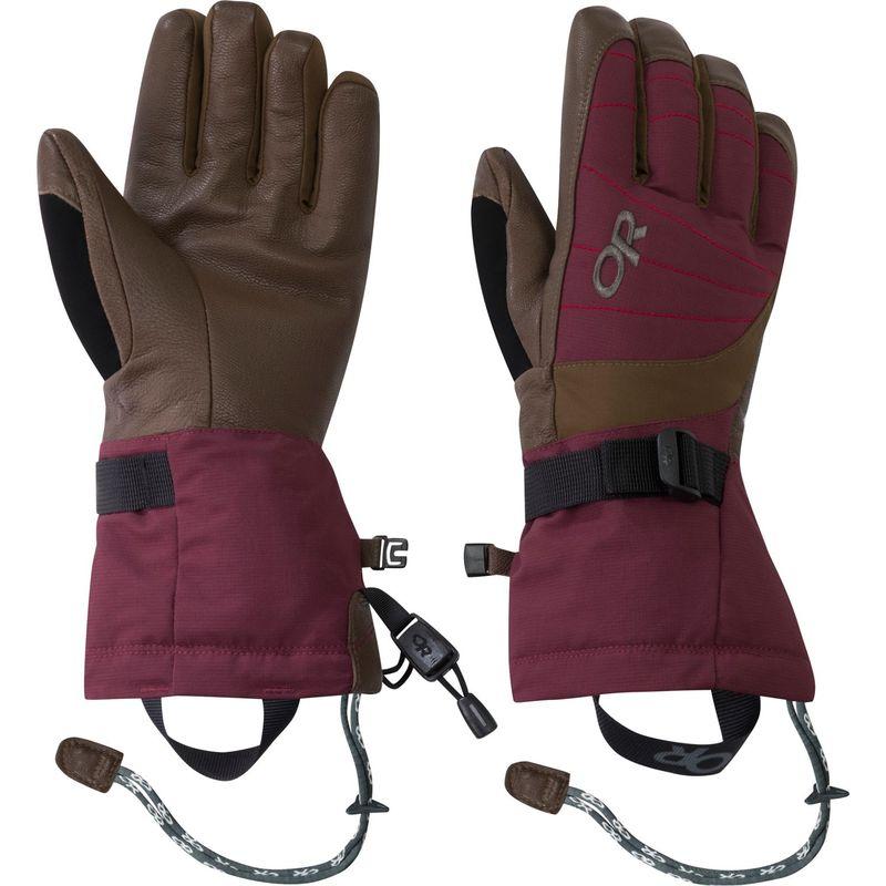 アウトドアリサーチ レディース 手袋 アクセサリー Women's Revolution Gloves L - Zin/Carob/Tomato