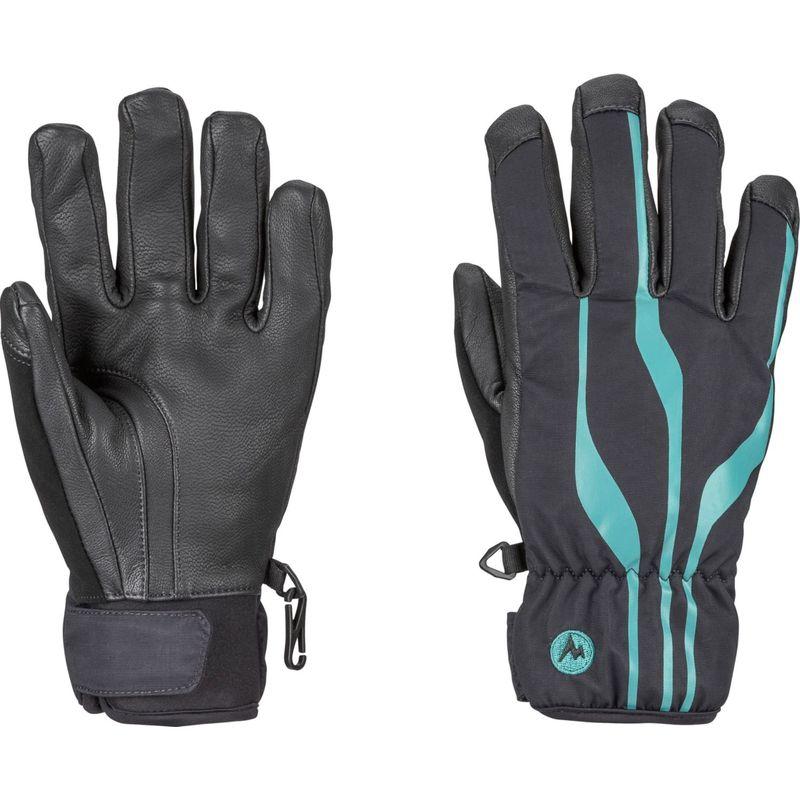 マーモット レディース 手袋 アクセサリー Womens Spring Glove S - Black/Patina Green