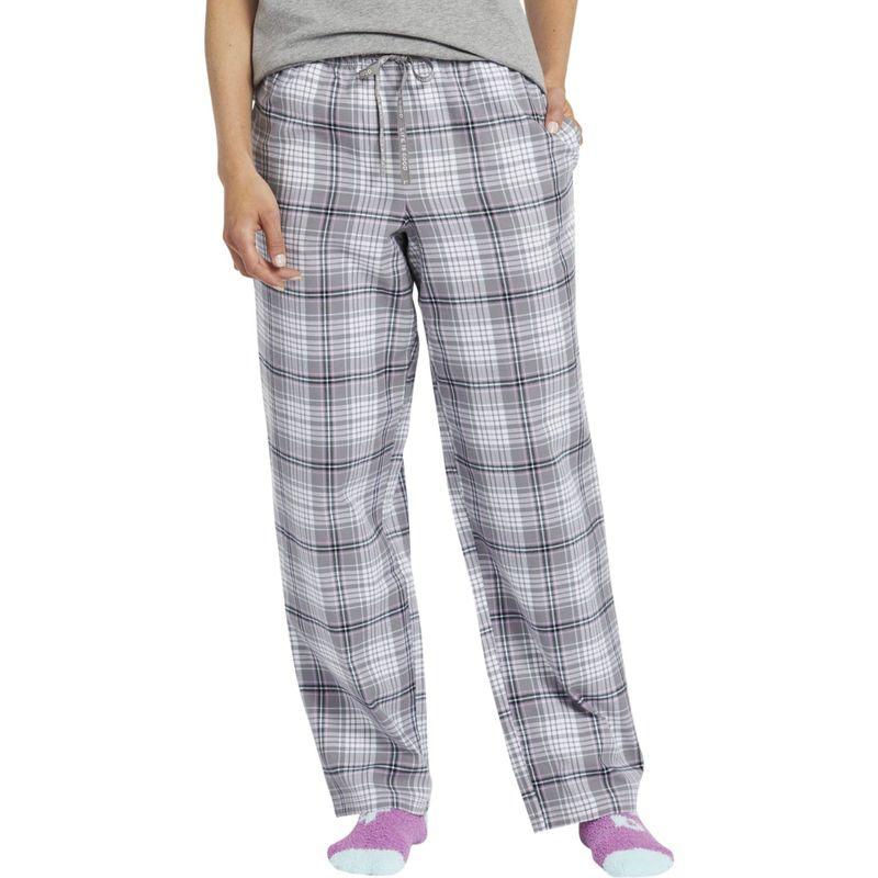 ライフイズグッド レディース カジュアルパンツ ボトムス Women's Classic Sleep Pant XS - Slate Gray Plaid