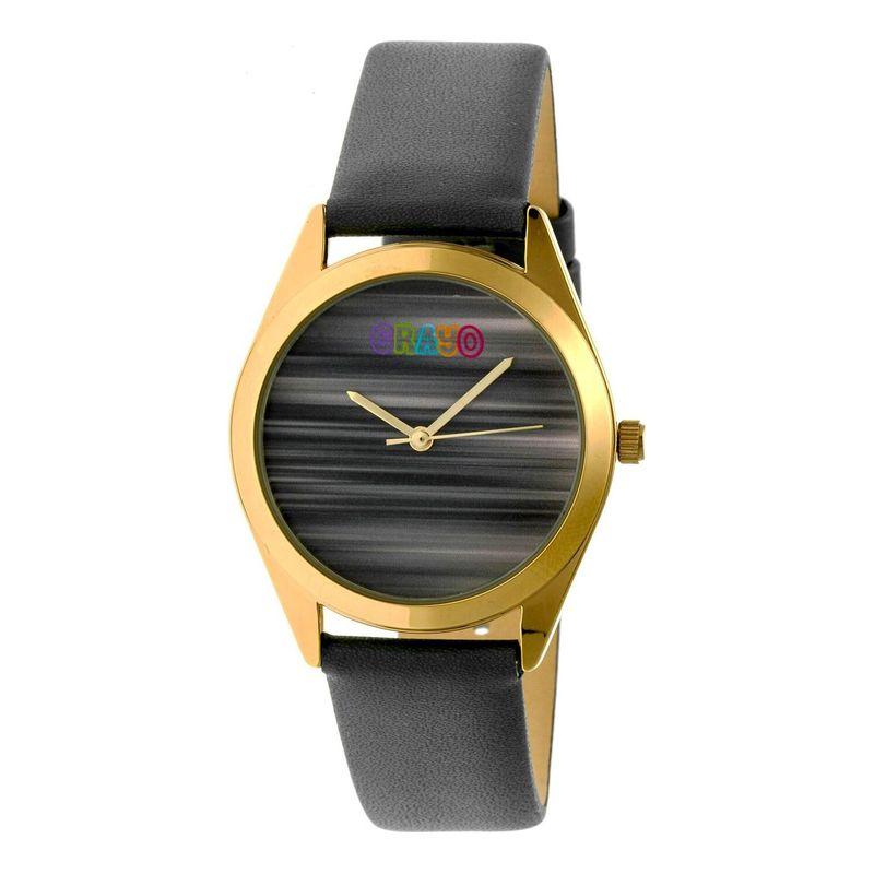 クラヨ メンズ 腕時計 アクセサリー Graffiti Leather-Band Watch Grey