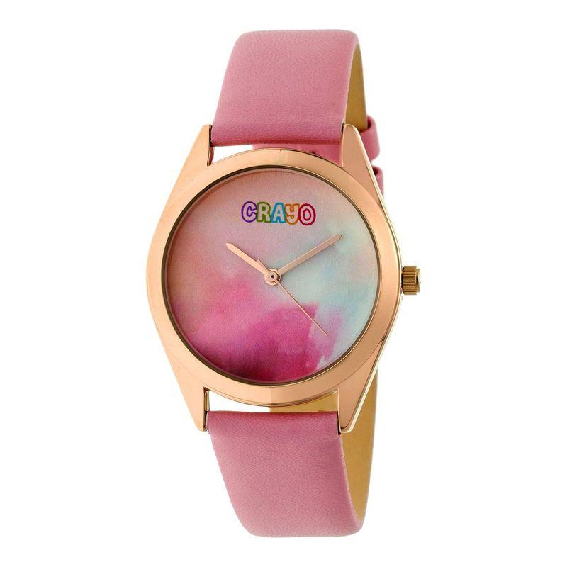クラヨ メンズ 腕時計 アクセサリー Graffiti Leather-Band Watch Light Pink