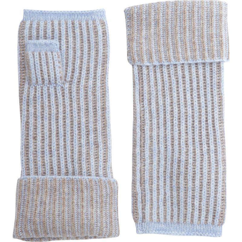 キンロスカシミア レディース 手袋 アクセサリー Plaited Rib Texting Glove One Size - Ceil/Antler