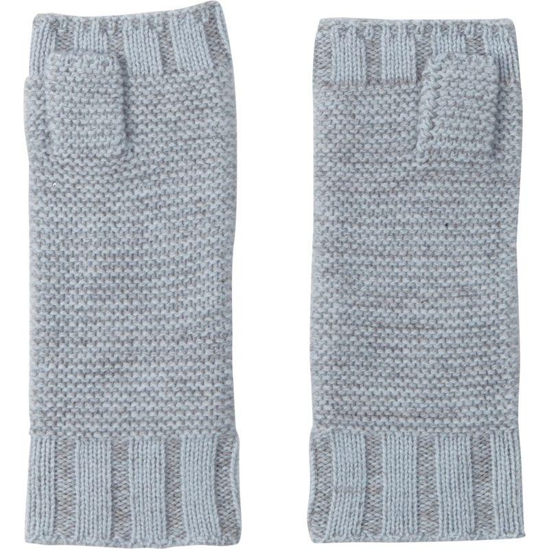 キンロスカシミア レディース 手袋 アクセサリー Plaited Fingerless Gloves One Size - Arctic/Sterling