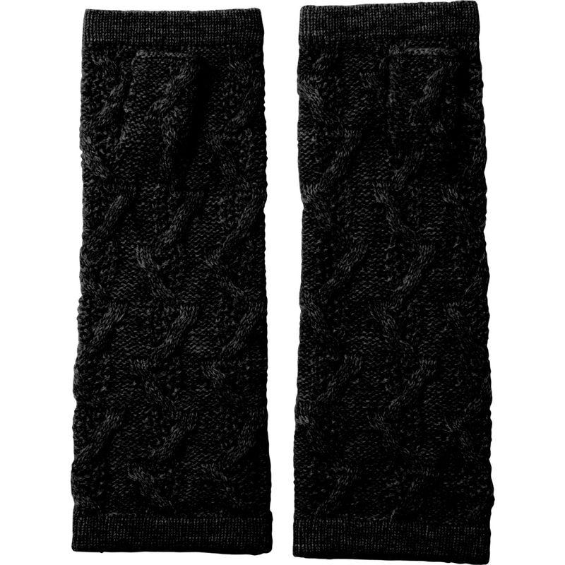 キンロスカシミア レディース 手袋 アクセサリー Cable Fingerless Gloves One Size - Black