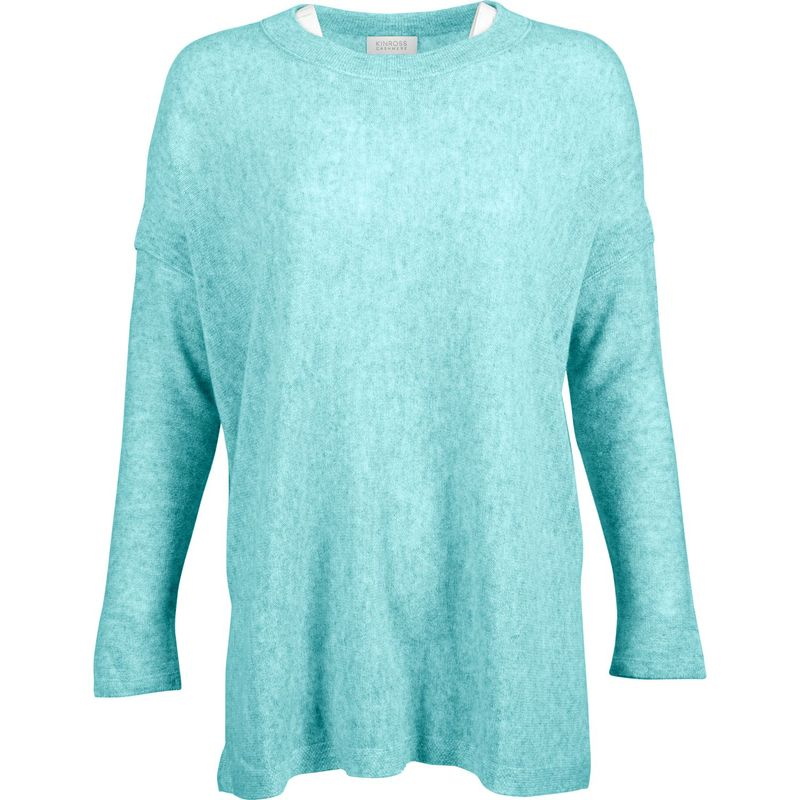 キンロスカシミア レディース ニット・セーター アウター Easy Ballet Neck Pullover S - Aquamarine