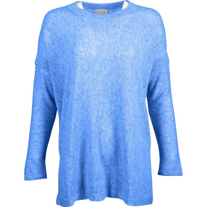 キンロスカシミア レディース ニット・セーター アウター Easy Ballet Neck Pullover S - French Blue