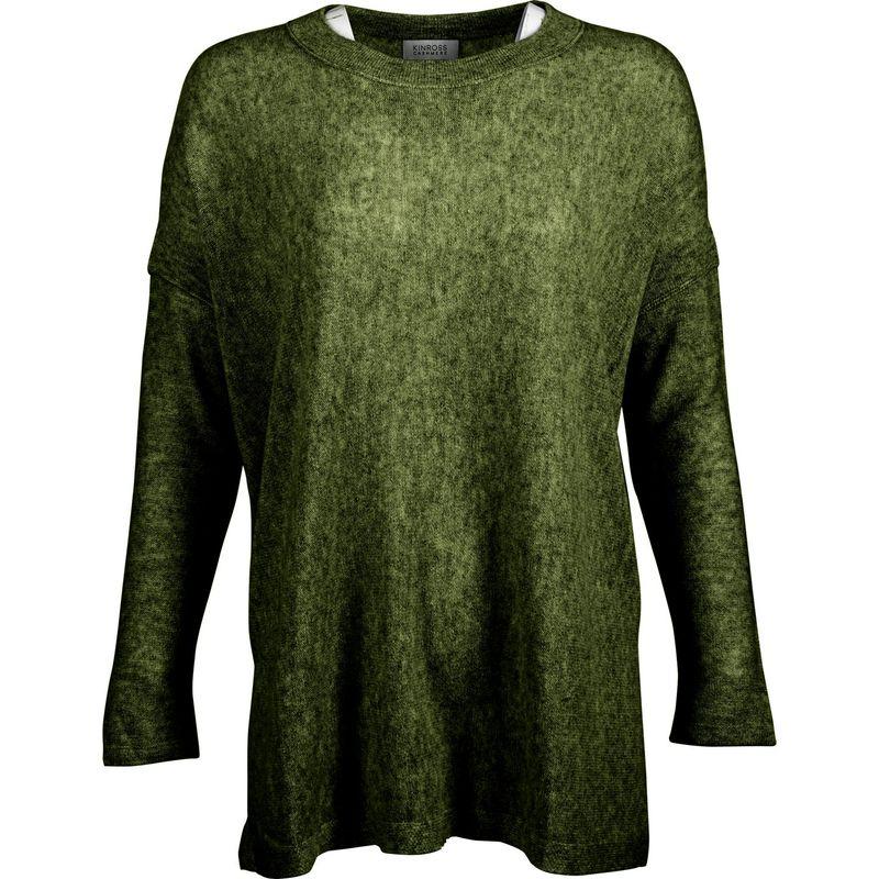 キンロスカシミア レディース ニット・セーター アウター Easy Ballet Neck Pullover S - Moss