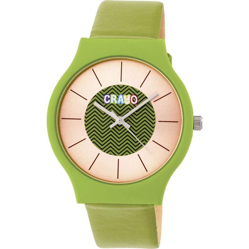 クラヨ メンズ 腕時計 アクセサリー Womens Trinity Leatherette-Band Watch Lime