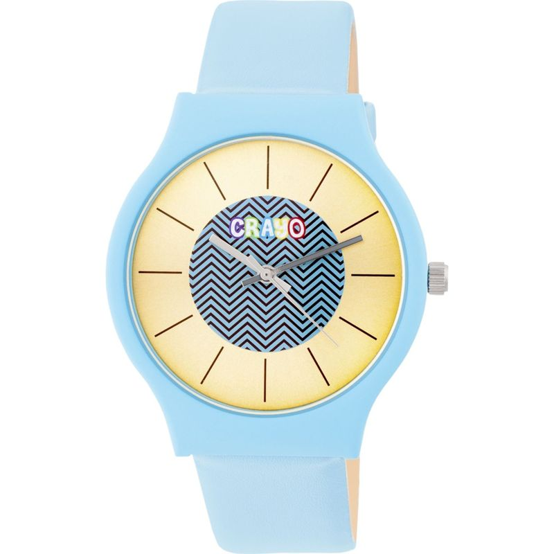 クラヨ メンズ 腕時計 アクセサリー Womens Trinity Leatherette-Band Watch Powder Blue