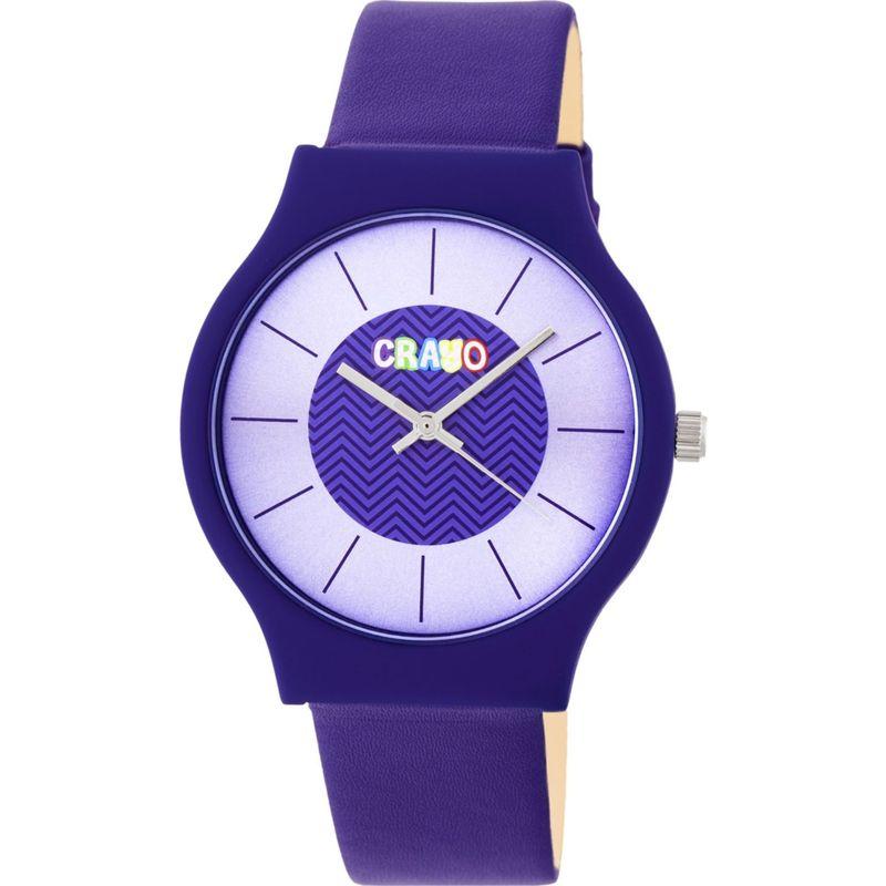 クラヨ メンズ 腕時計 アクセサリー Womens Trinity Leatherette-Band Watch Purple