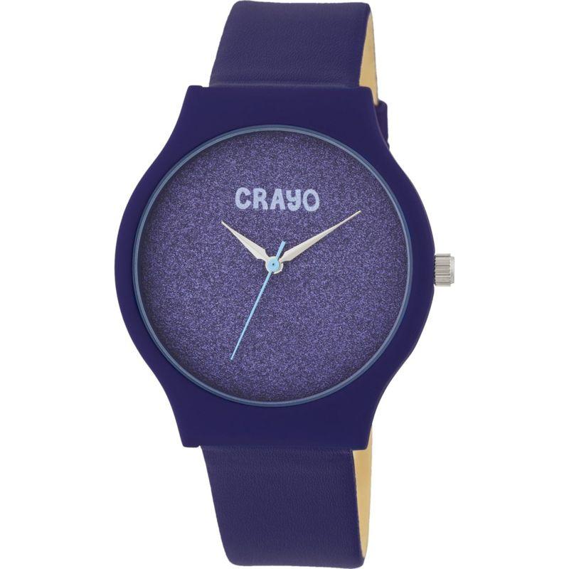 クラヨ メンズ 腕時計 アクセサリー Womens Glitter Leatherette-Band Watch Purple