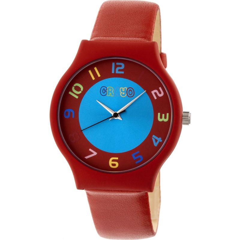 クラヨ メンズ 腕時計 アクセサリー Womens Jubilee Leatherette-Band Watch Orange