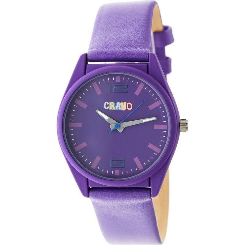 クラヨ メンズ 腕時計 アクセサリー Womens Dynamic Leatherette-Band Watch Purple