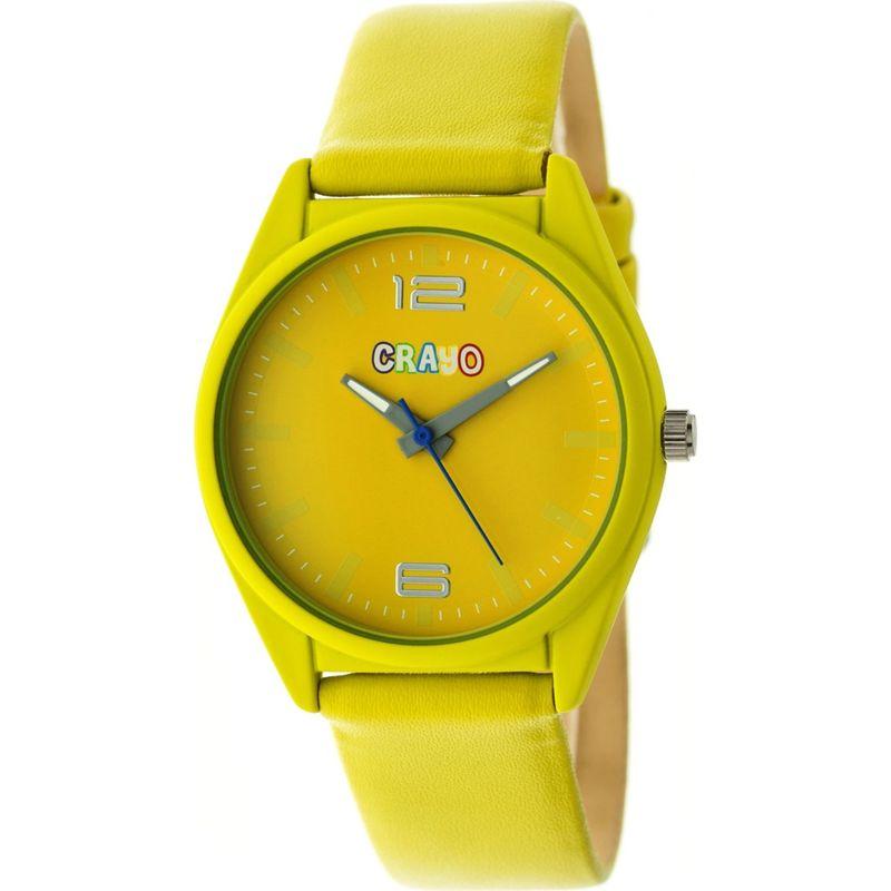 クラヨ メンズ 腕時計 アクセサリー Womens Dynamic Leatherette-Band Watch Yellow