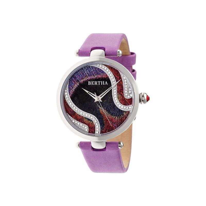ベルサ メンズ 腕時計 アクセサリー Womens Trisha Engraved Dial with Swarovski Crystals Watch Lilac