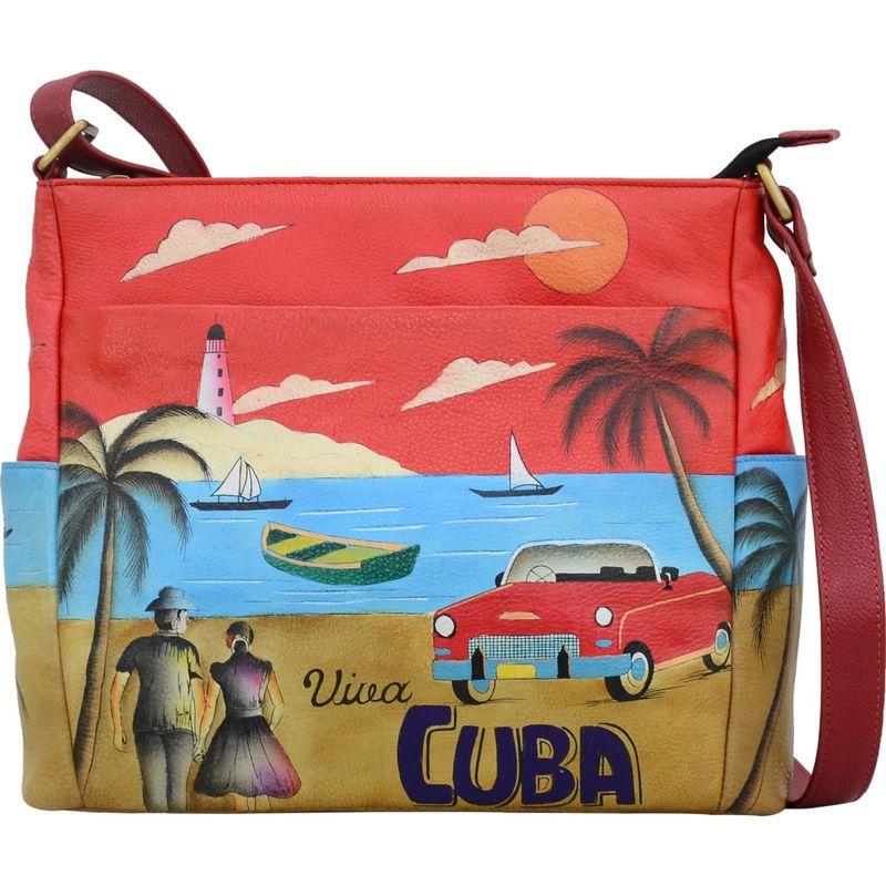 アンナバイアナシュカ メンズ ボディバッグ・ウエストポーチ バッグ Hand Painted Leather Crossbody with Side Pockets Viva Cuba