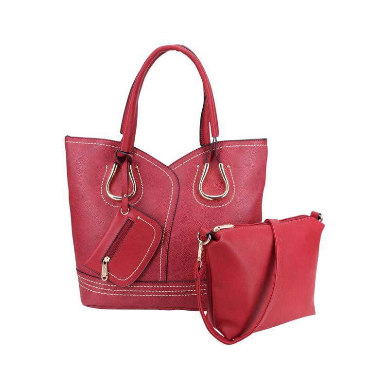 ダセイン メンズ トートバッグ バッグ Horse Shoe Tote with Matching Accessory Bag Burgundy