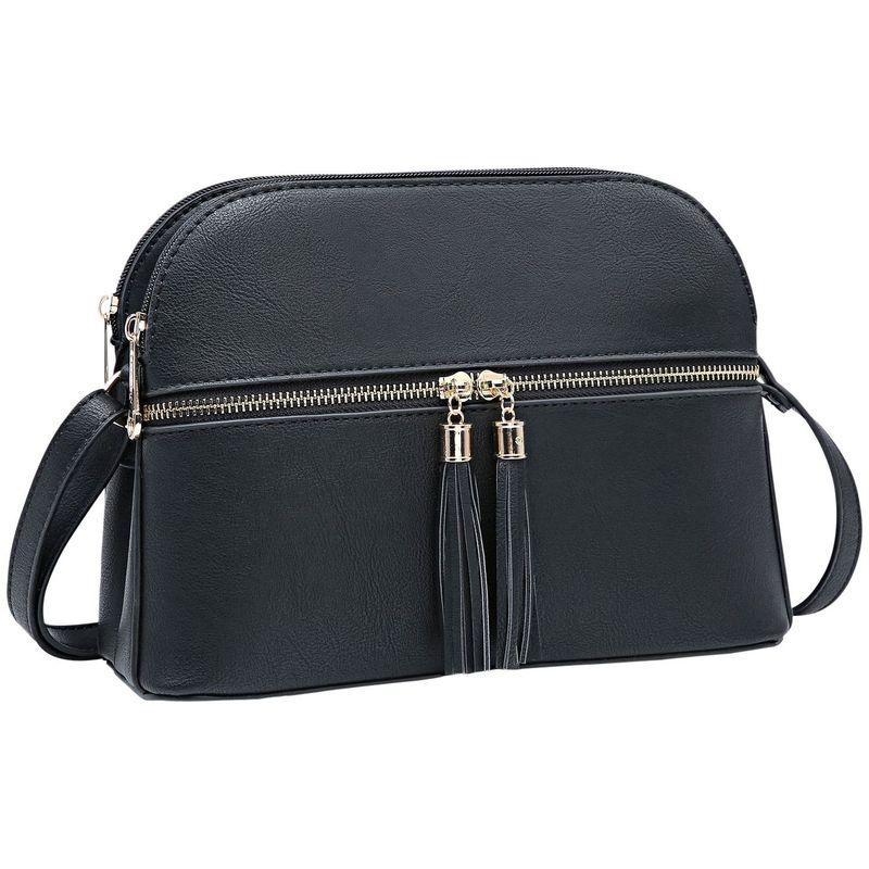 ダセイン メンズ ボディバッグ・ウエストポーチ バッグ Multi-Pockets Crossbody with Tassel Black