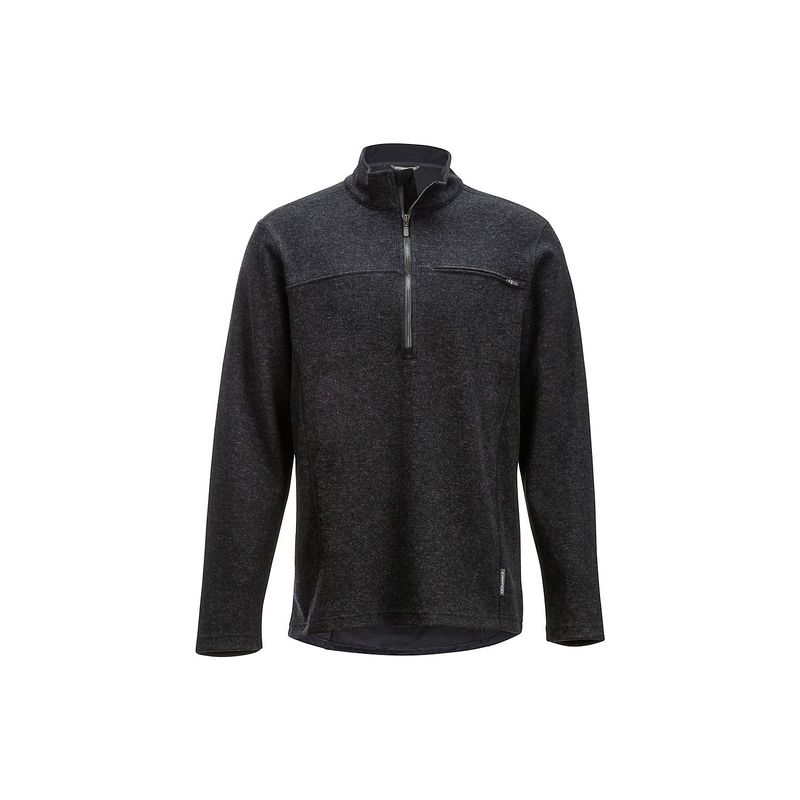 エクスオフィシオ メンズ ニット・セーター アウター Mens Caminetto 1/4 Zip Lightweight Long-Sleeve Pullover Shirt L - Black Heather