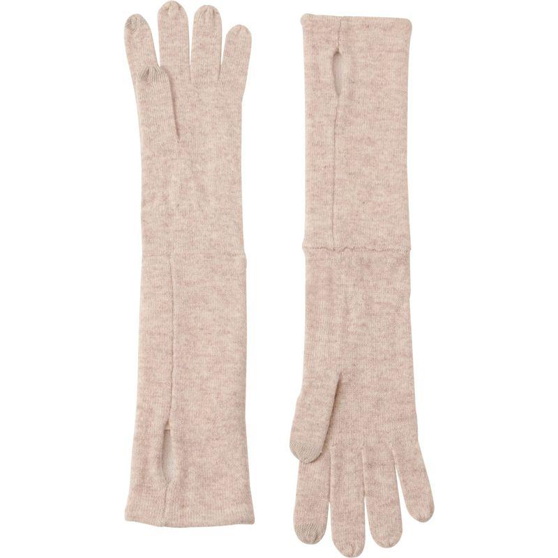 キンロスカシミア レディース 手袋 アクセサリー Reversible Glove One Size - Fawn/Ivory