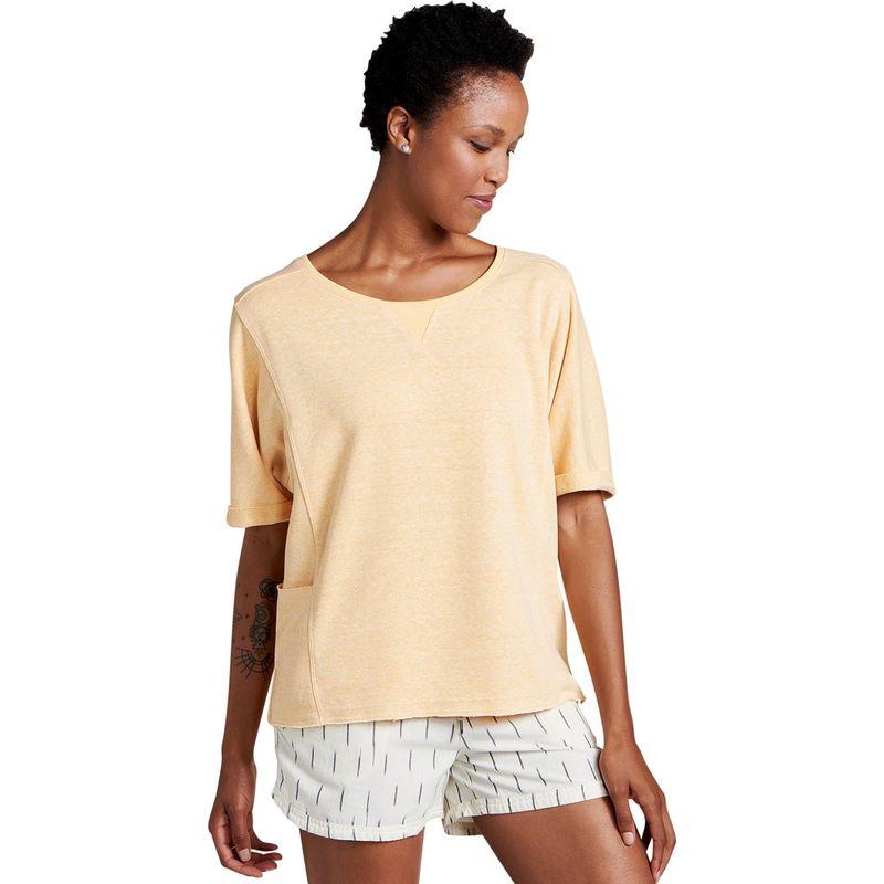 トードアンドコー レディース ニット・セーター アウター Womens Couvert Hemp Short Sleeve Pullover XS - Polenta Heather