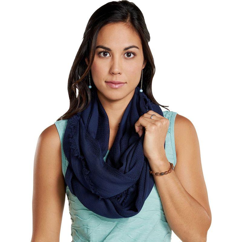 トードアンドコー レディース マフラー・ストール・スカーフ アクセサリー Womens Sarabi Infinity Scarf Dark Indigo Solid