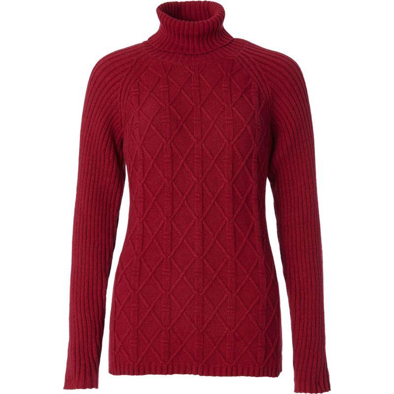 ロイヤルロビンズ レディース ニット・セーター アウター Womens Frost Turtleneck M - Rumba Red